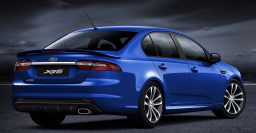 FG X Ford Falcon rear-end shown; will have 4-, 6-, 8-cylinder engines