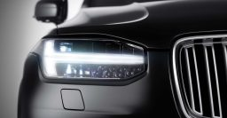 Volvo XC90: second generation car's headlight exposed
