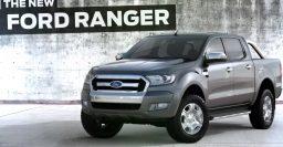 T6 Ford Ranger 2015 facelift: chromier grille shown on YouTube