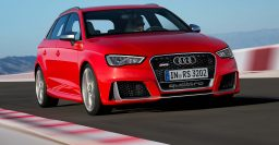8V Audi RS3 Sportback packs 270kW/465Nm 2.5L 5-cylinder