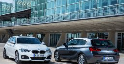 F20/F21 BMW 1-Series facelift: less ugly, and 3-cylinder engines
