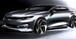 Kia Optima: fourth generation sedan sketched out