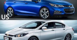 Chevrolet Cruze (2nd gen) China vs. US models compared