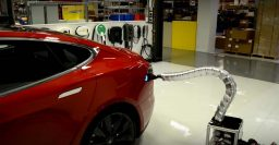 Tesla Model S snake charger slithers into car – video