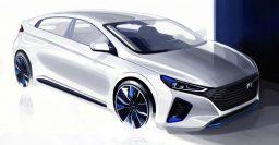 2016 Hyundai Ioniq exterior, interior detailed in new sketches