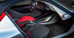 2016 Opel GT concept interior: No buttons; only touchpad, voice recognition