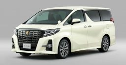 Toyota Alphard Type Black, Vellfire Golden Eyes special editions