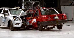 2017 Nissan Tsuru vs Versa crash video shows 26 years of safety advances