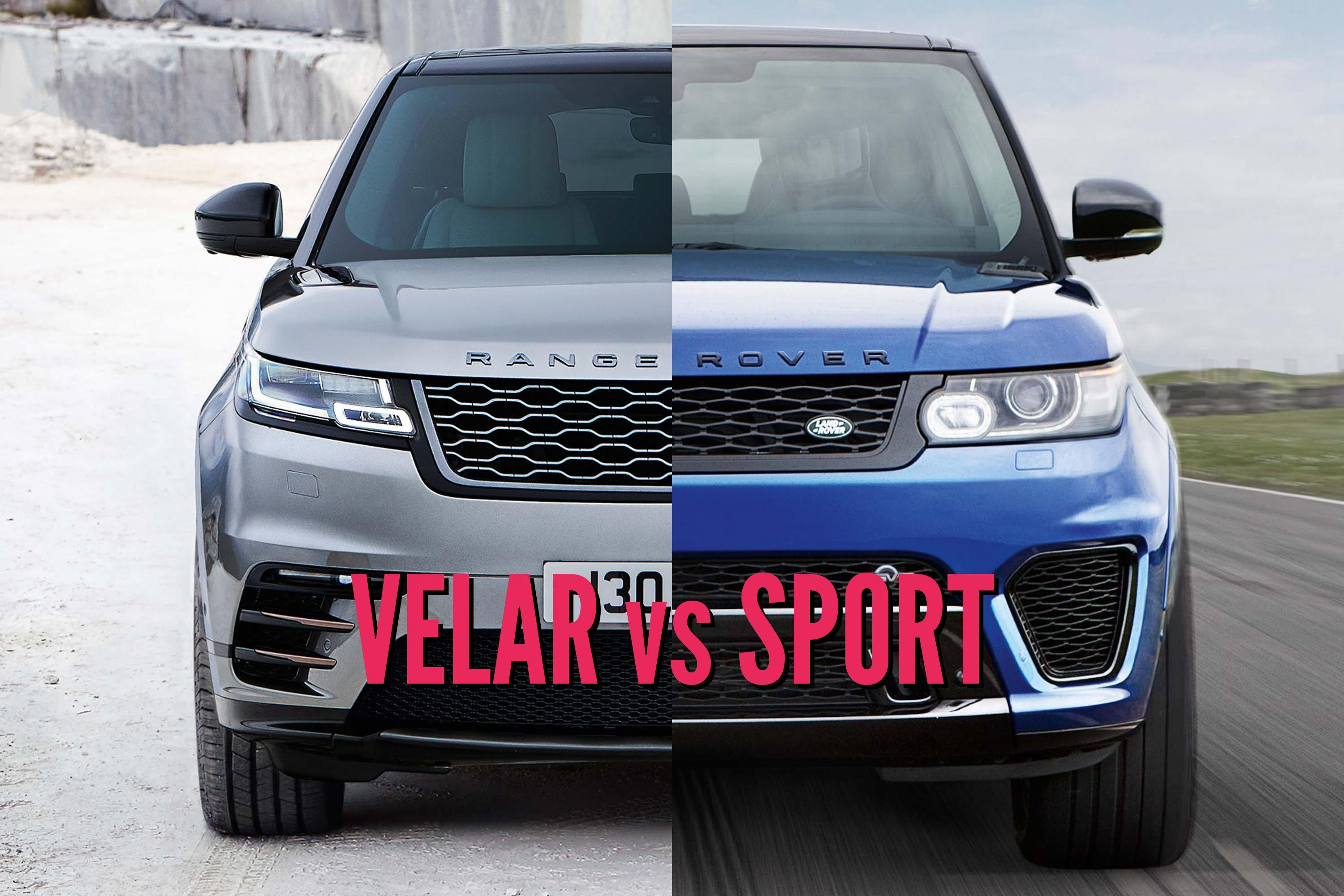 2018 range rover velar vs range rover sport picture comparison between the axles. Black Bedroom Furniture Sets. Home Design Ideas