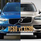 2018 Volvo XC60 vs 2017 XC90: Differences in photo comparison