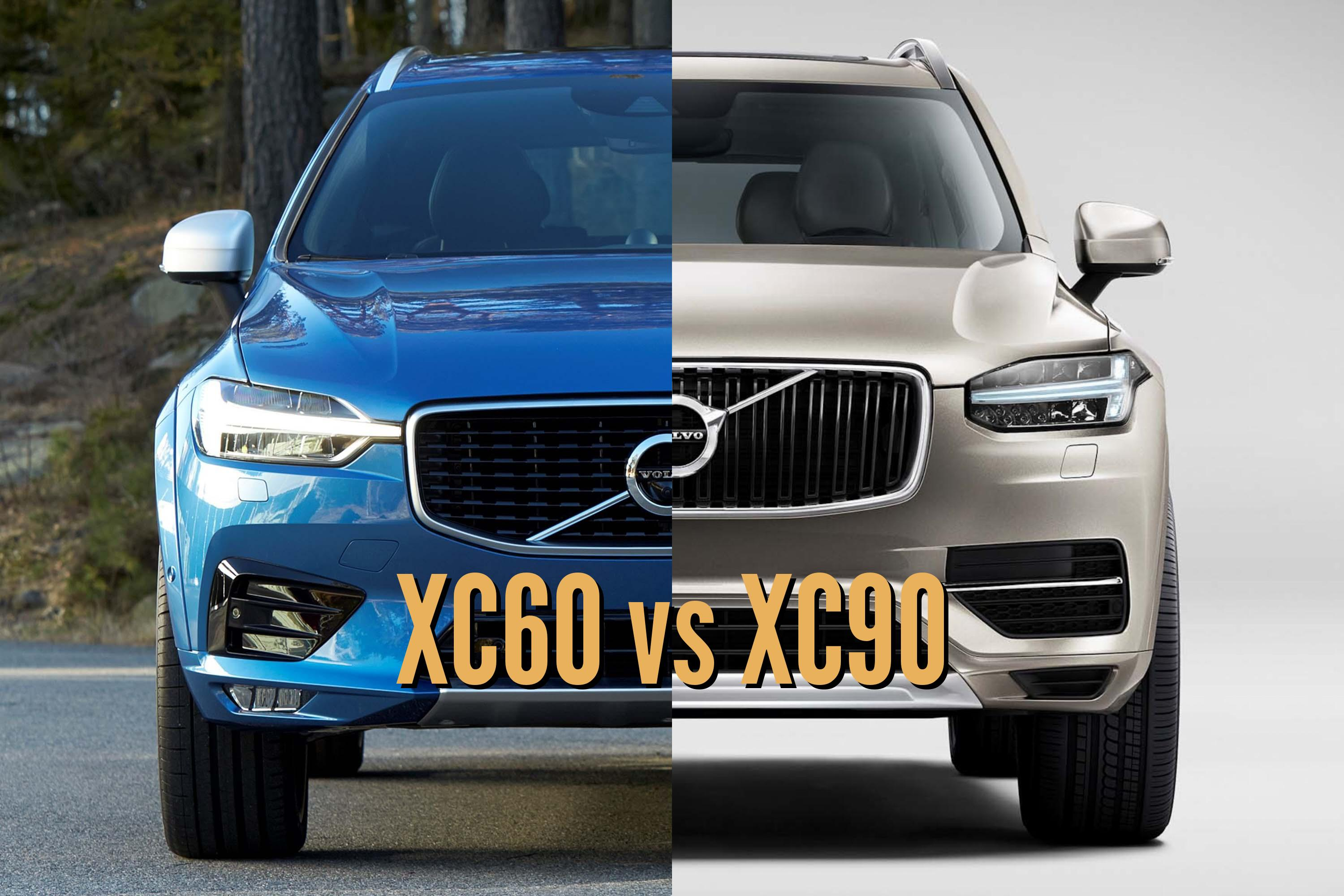 2018 Volvo XC60 vs 2017 XC90: Differences in photo comparison | Between the Axles