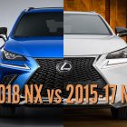 2018 Lexus NX vs 2015-17: Facelift differences in photo comparison