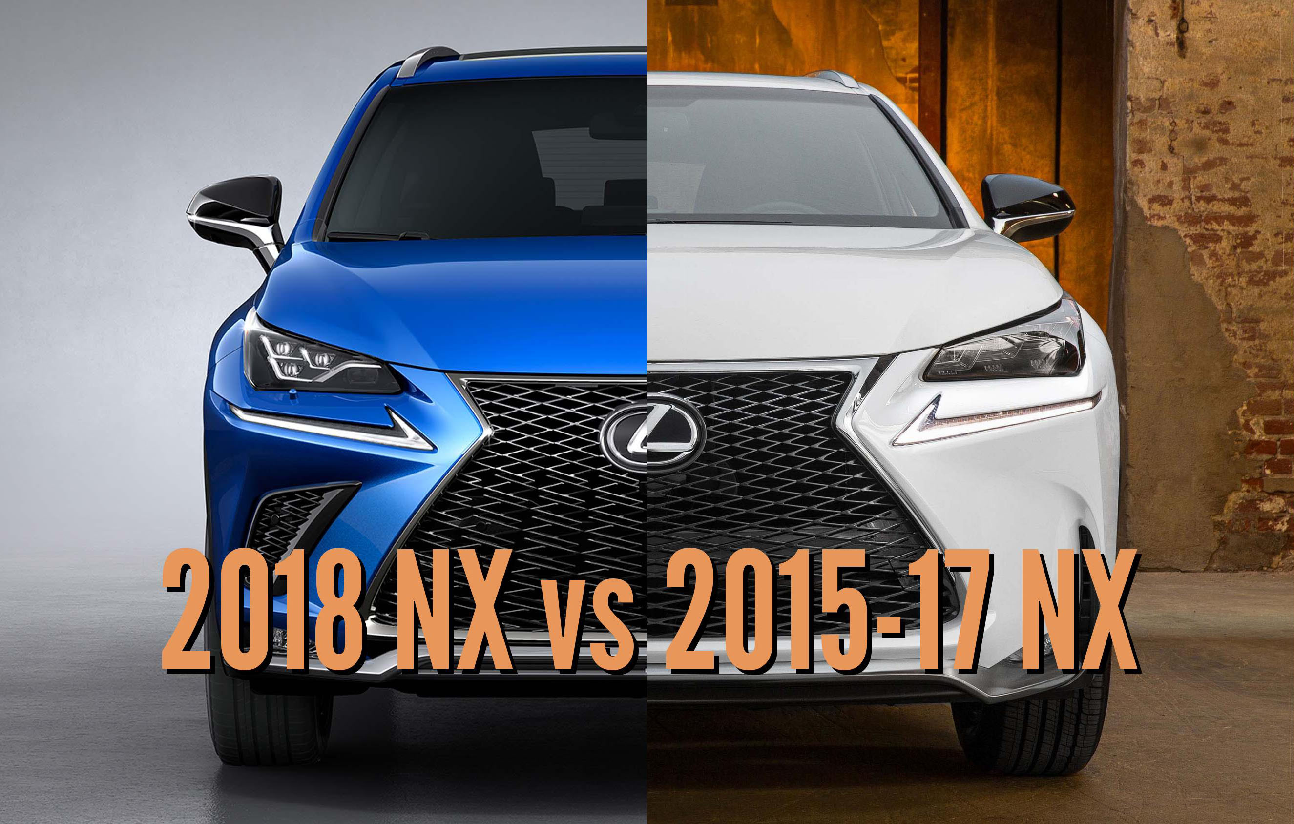 2018 lexus nx sport. simple 2018 2018 lexus nx vs 201517 facelift differences in photo comparison   between the axles with lexus nx sport
