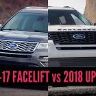 2018 Ford Explorer vs 2016-2017: Update differences in photo comparison