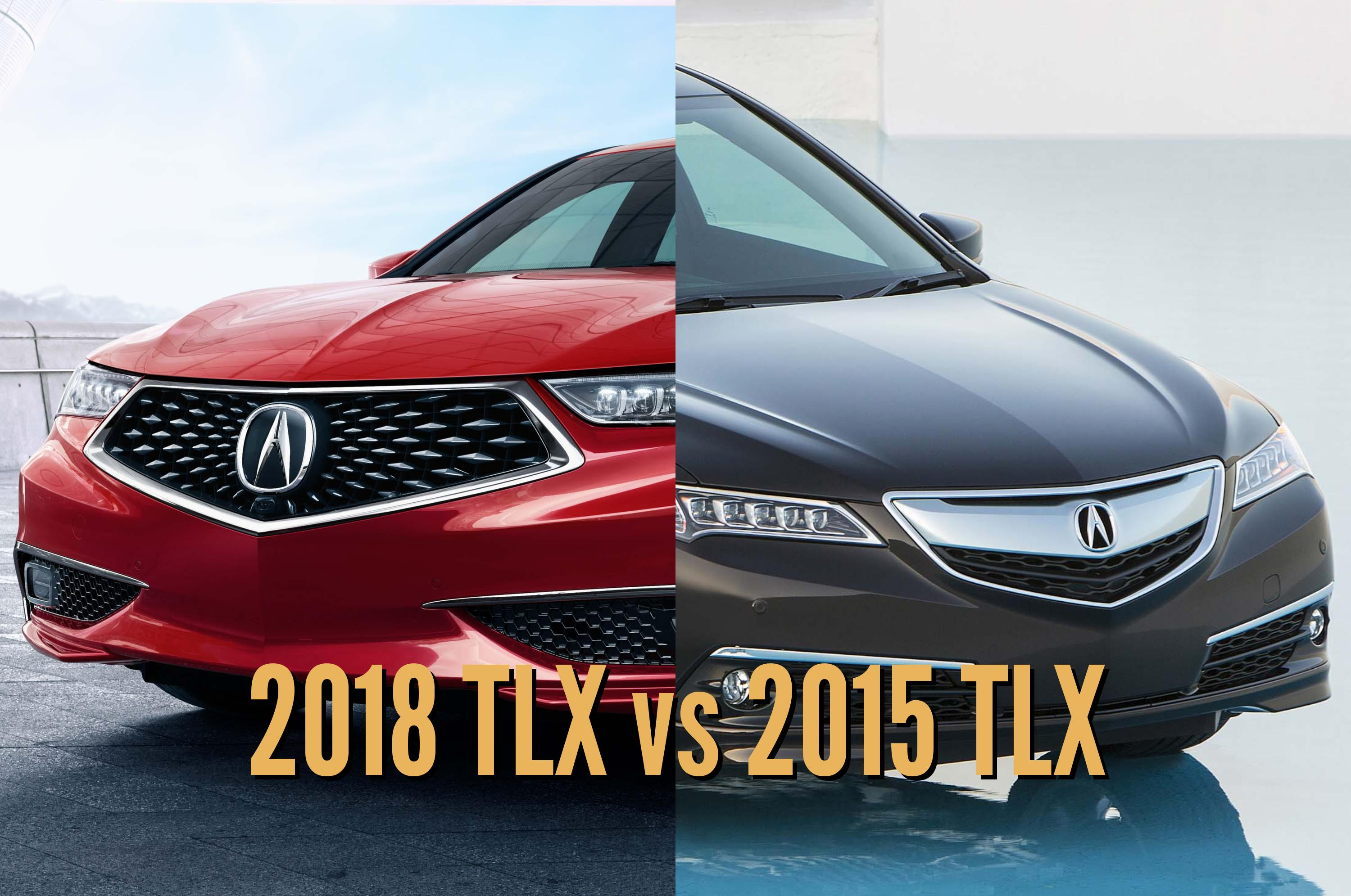 2018 Acura TLX vs 2015-2017: See differences in photo ...