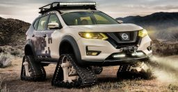 Nissan Rogue Trail Warrior Project: T32 swaps tires for tracks