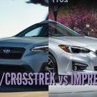 2018 Subaru XV/Crosstrek vs Impreza: Differences in photo comparison