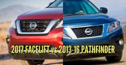 2017 Nissan Pathfinder vs 2013-2016: Facelift changes photo comparison