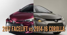 2017 Toyota Corolla vs 2014-2016: Facelift changes in photo comparison