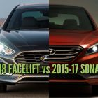 2018 Hyundai Sonata vs 2015-17: Differences in photo comparison