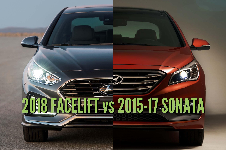 2018 Hyundai Sonata Vs 2015 17 Differences In Photo