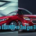 2018 Chevrolet Equinox vs 2016-2017: 3rd vs 2nd generation differences