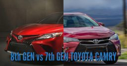 2018 Toyota Camry vs 2012-2017: 8th and 7th generation differences
