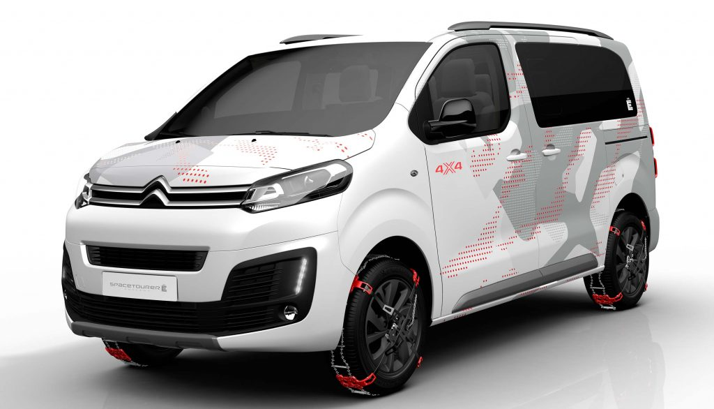citroen spacetourer 4 4 concept 2017 first generation photos between the axles. Black Bedroom Furniture Sets. Home Design Ideas