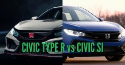2018 Honda Civic Type R vs Si: Differences in side-by-side comparison