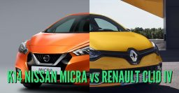 2017 Nissan Micra vs Renault Clio: Differences in photo comparison