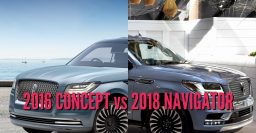 2018 Lincoln Navigator vs 2016 Concept: Differences side-by-side