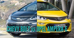2017 Chevrolet Bolt vs Opel/Vauxhall Ampera-e: Sibling differences