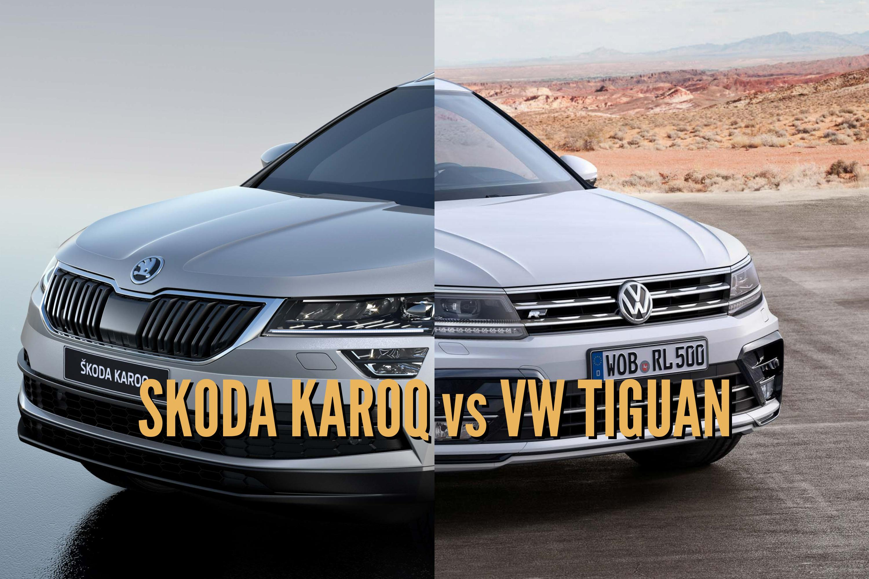 2017 skoda karoq vs volkswagen tiguan differences. Black Bedroom Furniture Sets. Home Design Ideas
