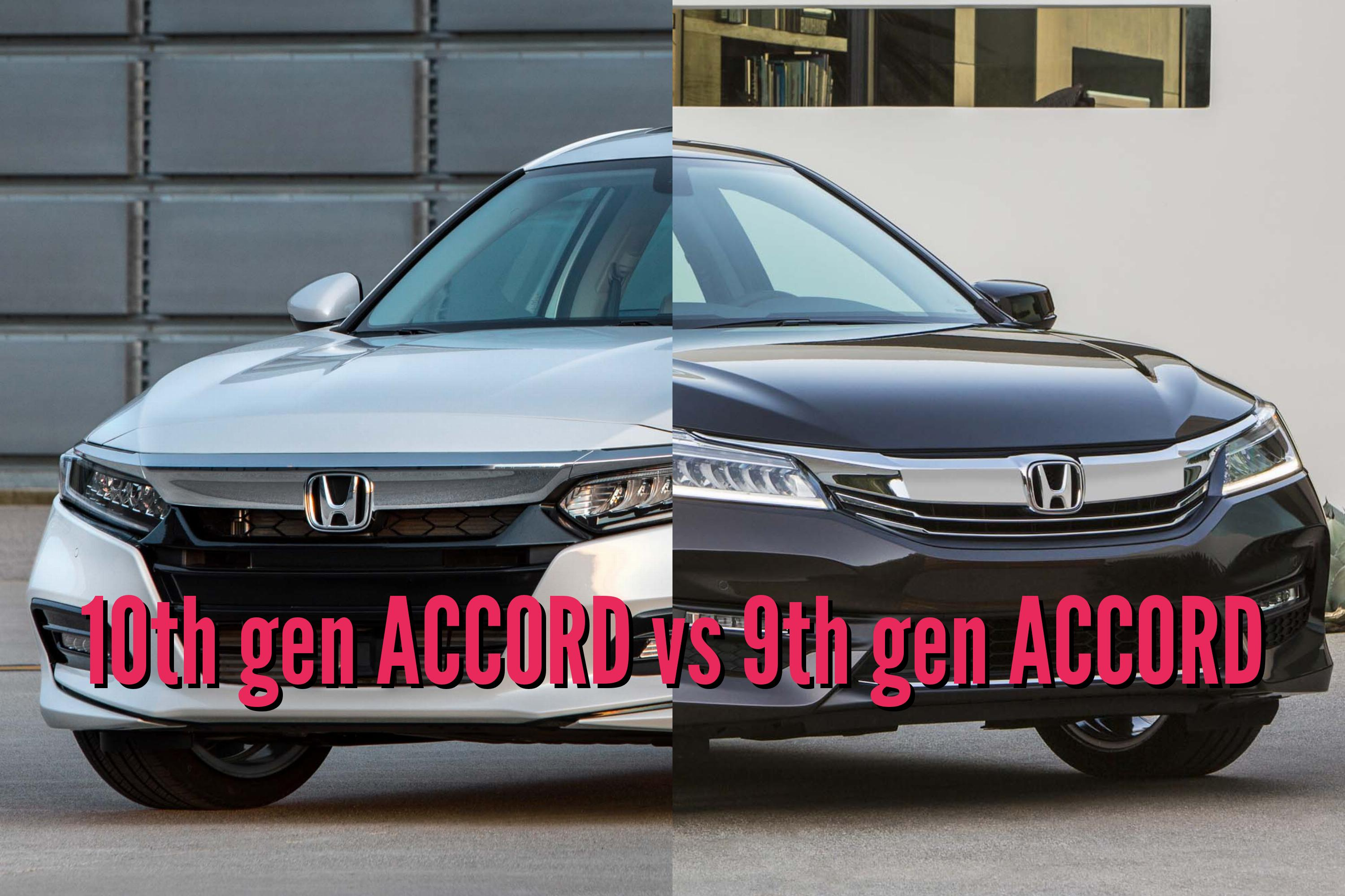2018 honda accord vs 2016 2017 facelift differences side by side between the axles. Black Bedroom Furniture Sets. Home Design Ideas
