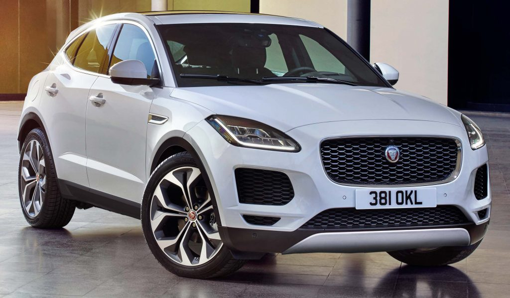 2018 jaguar e pace not an ev suv is first fwd awd jag since x type between the axles. Black Bedroom Furniture Sets. Home Design Ideas