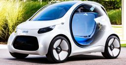 Smart ForTwo Vision EQ: An autonomous, EV city car with futuristic looks