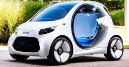 Smart ForTwo Vision EQ: An autonomous, EV city car with futuristic looks