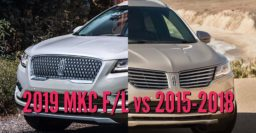 2019 vs 2015-2018 Lincoln MKC: Facelift changes side by side comparison