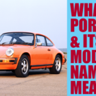 What are the meanings of Porsche's car names? From 911 to Panamera