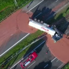 Tanker of delicious chocolate spills all over Polish highway