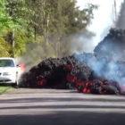 Lava from Mount Kilauea volcano eats Ford Mustang (2018) photos