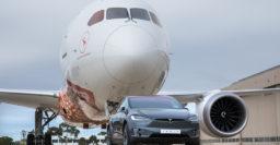 Tesla Model X tows Boeing 787-9 Dreamliner, sets world record