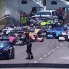 Chevrolet Corvette pace car crash at 2018 Detroit IndyCar race (photos)