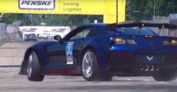 Watch GM exec crash Chevrolet Corvette ZR1 pace car in Detroit race