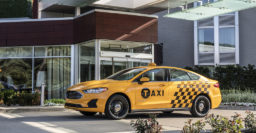 2019 Ford Fusion Hybrid Taxi borrows parts from police car