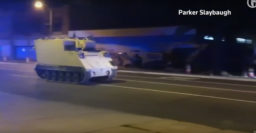 Soldier steals M577, leads police on mid-speed chase – video