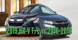 2019 Honda HR-V vs 2016-2018: Facelift differences & changes compared