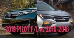 2019 Honda Pilot vs 2016-2018: Facelift differences & changes comparison