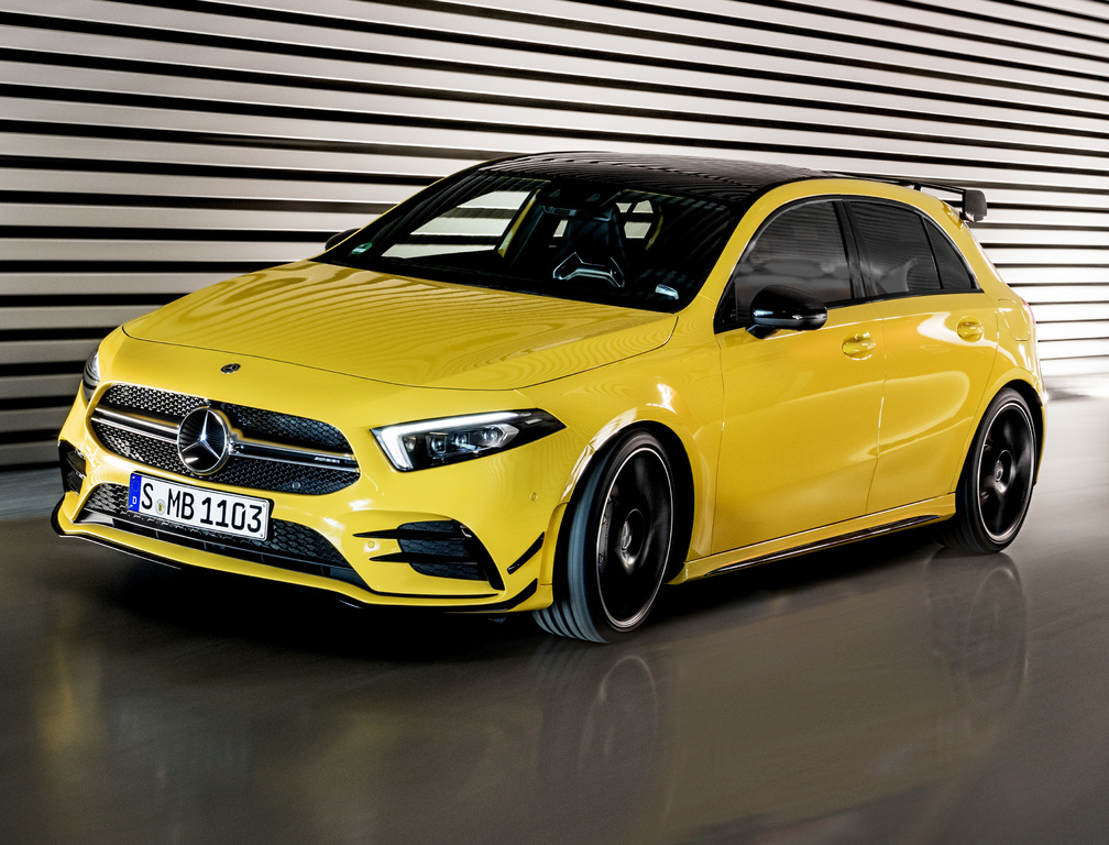 2019 mercedes amg a35 4matic detuned hot hatch to sit below a45 between the axles. Black Bedroom Furniture Sets. Home Design Ideas