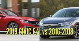 2019 Honda Civic sedan vs 2016-2018: Facelift changes compared